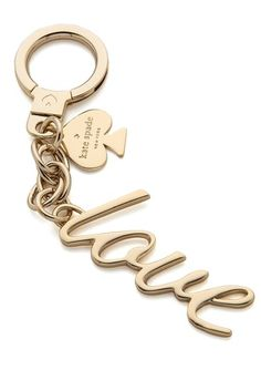 'love' keychain ... I LOVE THIS!!! Anyone who knows me, knows I loveeee this