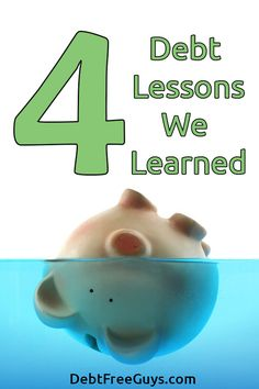 We have many debt lessons, but these 4 are the most important we learned when paying off $51k in credit card debt. We hope you learn from our lessons.