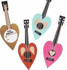 Guitar Valentine Card Kit