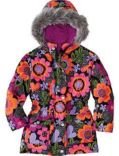 Girls Down Puffer Jacket, $94 #fashion #jacket #kids