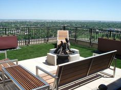 Don't you just love this roof top installation? www.easyturf.com l artificial turf l backyard l landscape l fake grass