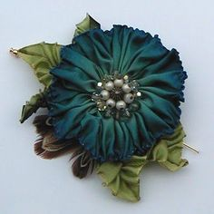 Cynthia Emerlye, Vermont Artist Floral Coat Pin: