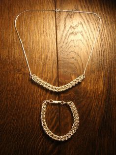 Viking weave necklace and bracelet