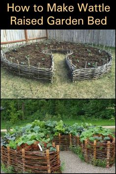 Raised garden beds make gardening easier for planting weed control and harvesting Choose from over 20 styles of raised beds and complete garden bed kits or learn how to build your own cedar redwood or recycled plastic garden bed or planter # Raised Vegetable Gardens, Veg Garden, Vegetable Garden Design, Garden Care, Garden Planters, Potager Garden, Vegetable Gardening, Planting Vegetables, Key Hole Garden