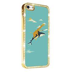 Giraffe Ride Shark Cute iPhone 5/5S Case Cover Diamond Crystal Rhinestone Bling Hard Gold Case Cover Protector PAZATO http://www.amazon.com/dp/B00NSD7NC4/ref=cm_sw_r_pi_dp_Suziub0WPWG1X