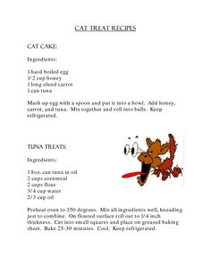The homemade cat treat recipe book fun and easy homemade kitty homemade cat treats forumfinder Choice Image