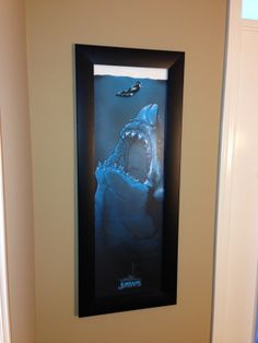 Just got this Jaws Art Print in the mail from www.joshuabudich.com/store/ All I can say is WOW!!! Love it and there are still some left! Have to say it looks pretty good in our frame!!! Thanks Joshua!!! Pretty Good, How To Look Pretty, Framed Prints, Art Prints, Frames, Thankful, Posters, Store, Art Impressions