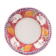"""VIETRI - 'Campagna' Collection - """"Porco"""" Dinner Plate   The Italian Dish"""
