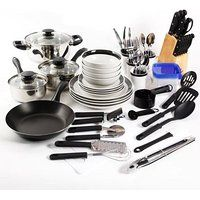 Essential Home Total Kitchen Cookware, Utensil 83 Pc Combo Set @ MoreSelections4All.com