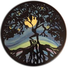 Woman In The Tree – Starry Night Backed – Street Unity Metal