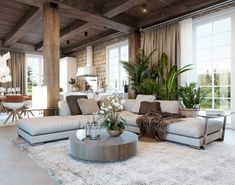 Get in the fall spirit with these brilliant rustic living room ideas, perfect fo… Get in the fall spirit with these brilliant rustic living room ideas, perfect for cozying up and enjoying the chilly weather. Tags: Living Room Ideas, Rustic Living Room, Co Rustic Living, Rustic Living Room, House Design, Mediterranean Living Rooms, Modern Rustic Living Room, Rustic Living Room Design, Rustic Chic Living Room, Mediterranean Decor, Rustic Interiors