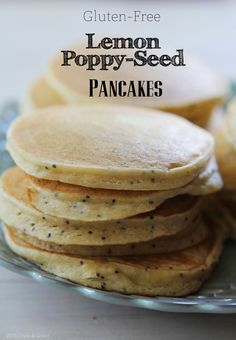 Lemon Poppy Seed Pancakes & Blueberries | Recipe | With Style & Grace | With Style & Grace