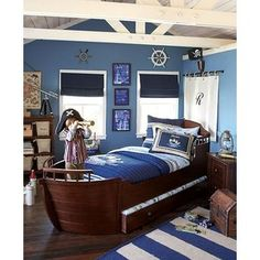 I adore everything pirate or sailor related, so I think this bed is really cool! Particularly good for in a young boys room or even a beach house.