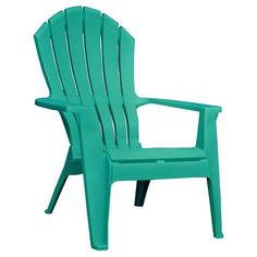"""Resin Adirondack Chair - Turquoise  $19.00 Weatherproof.  1 Yr. Warranty Finish: Matte Weight Capacity: 250.0 Lb. Dimensions: 32.5 """" D x 30.0 """" W x 37.5 """" H  Seat:  14.5 """" H x 19.0 """" W x 17.5 """" D  Weight: 7.25 Lb. Wipe clean with a damp cloth"""