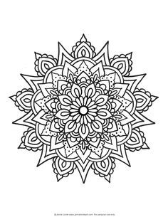 My friend over at Jamie Locke Art is a super talented artist who specialized in Mandalas. This is the beginning of what she hopes will soon be a coloring book available! Your first installment of Mandala Monday