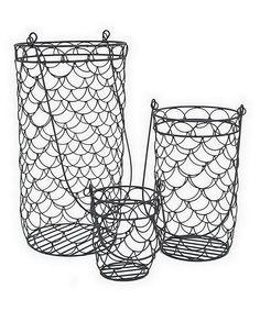 Look at this #zulilyfind! Metal Basket Set by Three Hands Corporation #zulilyfinds