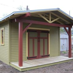Custom Craftsman Bungalow Shed by Historic Shed - Custom built storage shed designed to complement a 1920s Craftsman bungalow by Historic Shed.