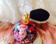 Botella de perfume atomizador de flores, botellas de Perfume,  estilo Victotian