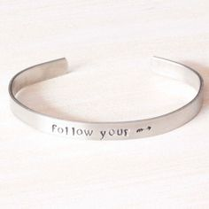 Personalized, Hand Stamped Skinny Cuff Bracelet