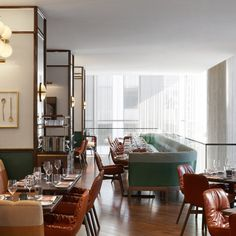 Interior architect Martin Brudnizki gives a midcentury makeover to Toronto's Café Boulud