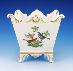 Herend Rothschild bird cachepot