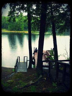 fishing in the rain, knight lake wisconsin