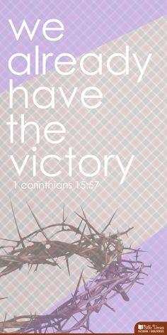 1 Corinthians 15:57(In Japanese: 第一コリント15:57 しかし、神に感謝すべきです。神は、私たちの主イエス・キリストによって、私たちに勝利を与えてくださいました。)