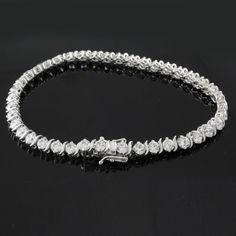 "Awesome 6.40 carat D/VVS1 Round Cut 7.25"" 'S' Link Tennis Bracelet #OmegaJewellery #Tennis"