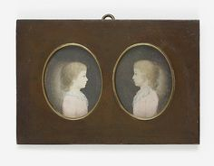 German Late18th Century Friedrich Wilhelm Carl und Carl Friedrich Wilhelm von Burgsdorff (1781-1837 and 1781-1858).Two miniatures. Gouache on ivory (?). Each c. 7,4 x 5,9 cm (oval). Backed; minor defects. Framed as pendants. On the backing board typed information regarding the portraits.