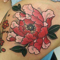 This mornings peony fun! #tattoo #tattoos #tattooworkers #tattoosnob…
