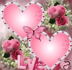 Pink hearts with butterflies love gif Heart Pictures, Heart Images, Love Images, Love Pictures, Heart Wallpaper, Love Wallpaper, Coeur Gif, Hearts And Roses, Pink Hearts