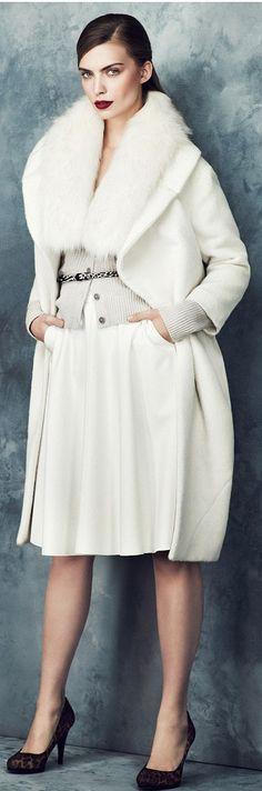 white coat with fur collar 2013