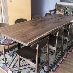 Black Walnut Bookmatched Live Edge Slab Dining Table By Taylor Donsker