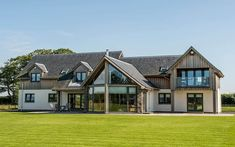 Timber Frame, Self Build Houses Images, Plans and Design Galleries Scotland & UK - Fleming Homes Timber Frame Scotland Self Build Houses, Rustic Home Design, Timber Cladding, Timber Frame Homes, New Home Construction, Custom Built Homes, Stone Houses, Building A House, New Homes