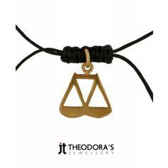 Handmade jewelry, gold plated silver macrame choker necklace made from black cord with macrame ending. A gold plated silver pendant Libra is hanging at the center of the necklace--------------------------Χειροποίητο ασημένιο κολιέ τσόκερ, από μαύρο κορδόνι 0,5 mm με κλείσιμο πλέξη μακραμέ που αυξομειώνεται. Στο κέντρο κρέμεται μενταγιόν Ζυγός από επιχρυσωμένο ασήμι