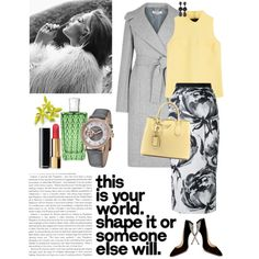 Grey & Yellow by lera-chyzh on Polyvore featuring polyvore fashion style MSGM STELLA McCARTNEY Scanlan Theodore Charlotte Olympia Prada Stührling Oscar de la Renta Chanel The Merchant Of Venice clothing Winter Skirt Outfit, Winter Outfits, The Merchant Of Venice, Scanlan Theodore, Fashion 2017, Fashion Trends, Grey Yellow, Charlotte Olympia, Msgm