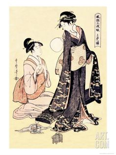 Upper Class Women Art Print by Kitagawa Utamaro at Art.com