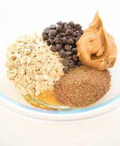 ⅔ cup creamy peanut butter ½ cup semi-sweet chocolate chips 1 cup old fashioned oats ½ cup ground flax seeds 2 tablespoons honey