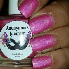 Anonymous Lacquer Hella Holo custom Electric Cotton Candy