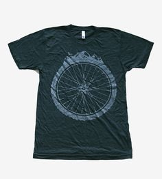 Mountain Bike Wheel T-Shirt | This athletic t-shirt sports a mountain bike wheel, ready for ... | T-Shirts