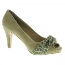 PEEPTOES TAUPE CON BROCADO