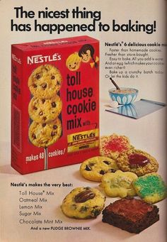 Toll House Cookie Mix ~ Vintage Ad
