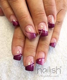 77 Trendy Brown Nail Art Designs and Ideas French Acrylic Nails, French Nail Art, French Tip Nails, Acrylic Nail Art, Nail Tip Designs, French Nail Designs, Nail Polish Designs, Acrylic Nail Designs, Nails Design