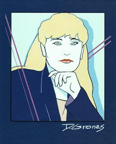 Diane Gronas - Self-portrait in the style of Patrick Nagel original design in Painter