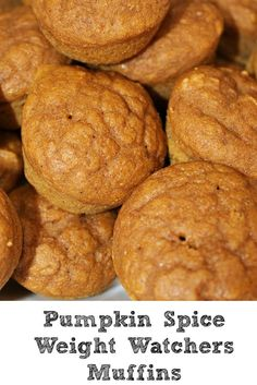 These Pumpkin Spice Weight Watchers Plus Value or 2 Smart Points! They are a great fall treat for low points plus value! These Pumpkin Spice Weight Watchers Plus Value or 2 Smart Points! They are a great fall treat for low points plus value! Weight Watchers Muffins, Weight Watchers Pumpkin, Weight Watchers Breakfast, Weight Watchers Diet, Weight Watcher Dinners, Weight Watchers Desserts, Ww Desserts, Healthy Desserts, Healthy Recipes