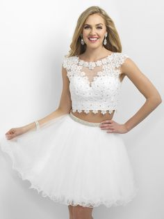 PERFECTION is all we can say about this two-piece! Available in White and it's at Rsvp Prom and Pageant, your source for the Hottest Homecoming, Prom, and Pageant Dresses!