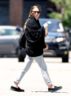 03e0a824dacf Ashley Olsen out and about in slip-on sneakers