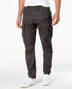 G-Star Raw Men's Rovic Straight Tapered Fit Cargo Pants - Black Cargo Pants Men, Mens Cargo, Slim Pants, G Star Raw, Pantalon Cargo, Plus Size Activewear, Mode Style, Style Men, Men's Style