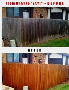 This fence was going to cost over a $1000 to replace, but a fence makeover and restoration cost under $200.