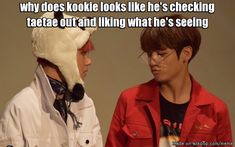 Because he is and he does ;) in fact this seems to be Kookie about 70% of the time he is around Tae